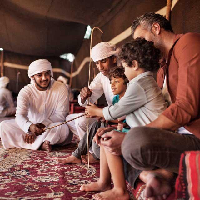 voyage dubai campement tentes desert