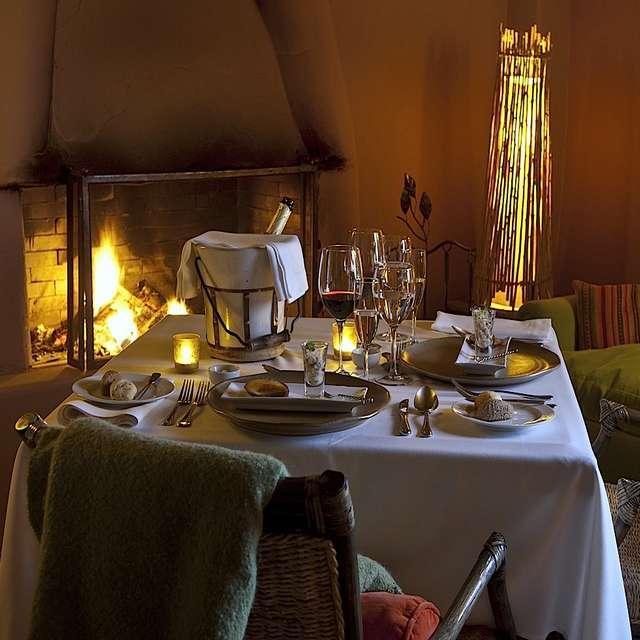 Voyage au Chili, Awasi Atacama, restaurant