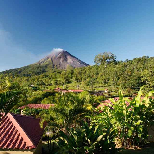 vue volcan Arenal
