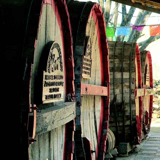 roadtrip au Mexique - fût de tequila